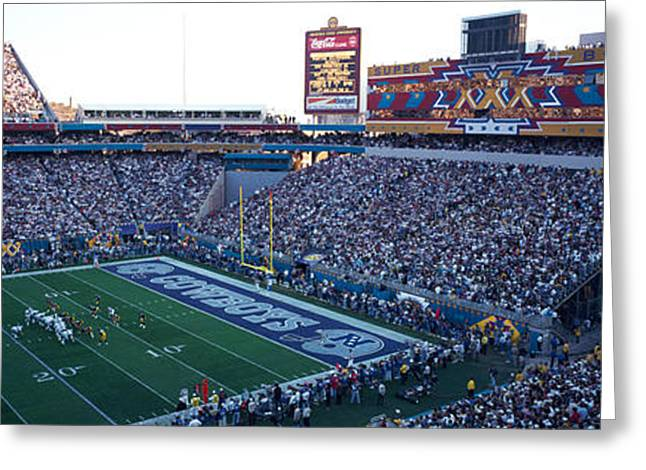 Arizona Cowboy Greeting Cards - High Angle View Of A Football Stadium Greeting Card by Panoramic Images