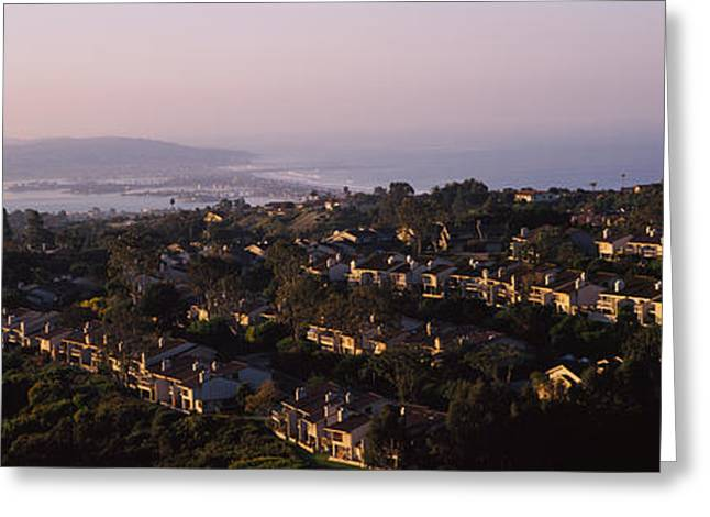 California Beach Greeting Cards - High Angle View Of Buildings In A City Greeting Card by Panoramic Images