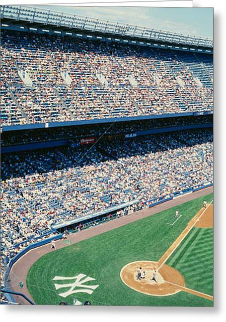 Professional Sports Greeting Cards - High Angle View Of Spectators Watching Greeting Card by Panoramic Images