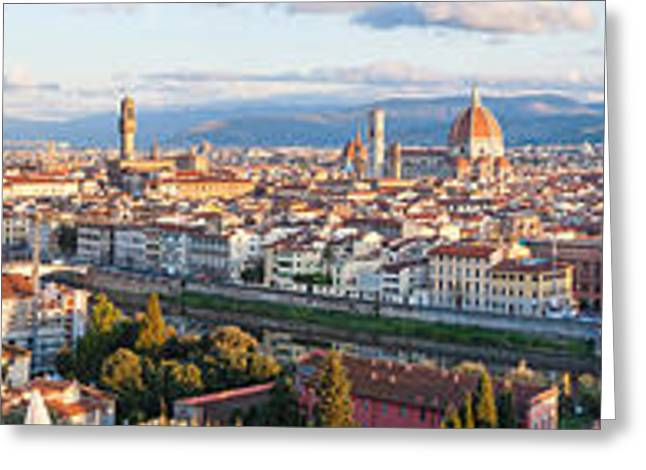 Michelangelo Photographs Greeting Cards - High Angle View Of The City Greeting Card by Panoramic Images