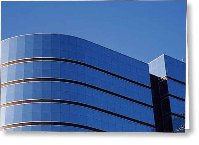 Fulton Greeting Cards - High Section View Of A Building Greeting Card by Panoramic Images