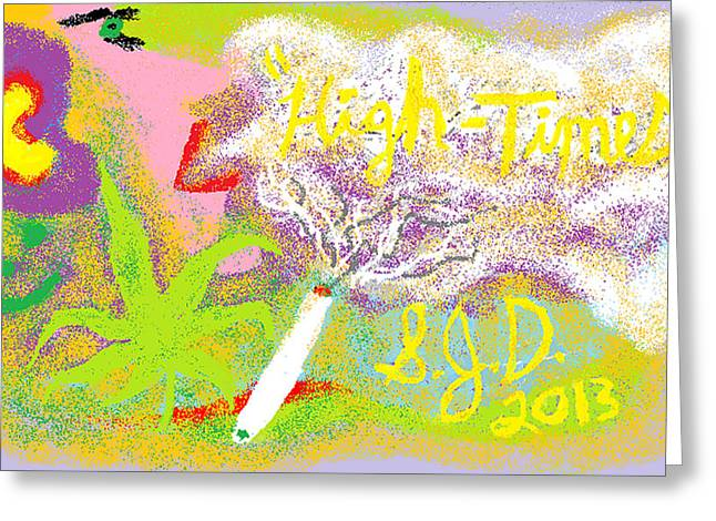 High Times Greeting Card by Joe Dillon