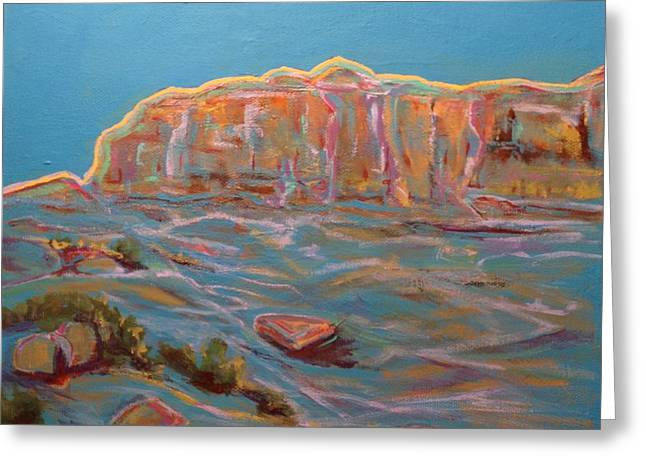 Jo Anne Neely Gomez Paintings Greeting Cards - Hill Above Acoma Overlook Greeting Card by Jo Anne Neely Gomez