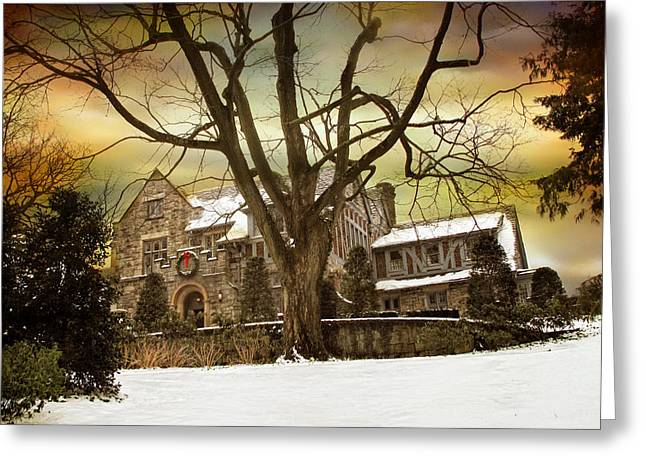 Hilltop Estate Greeting Card by Jessica Jenney