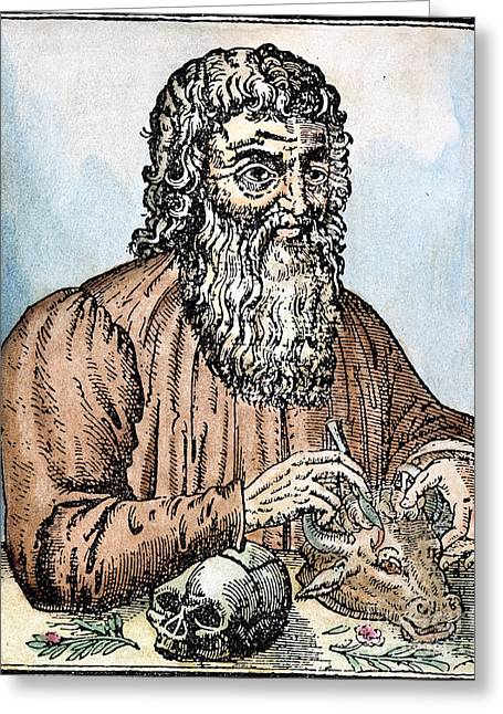 Pare Greeting Cards - HIPPOCRATES (c460-c377 B.C.) Greeting Card by Granger