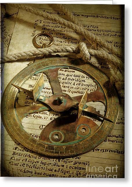 The Past Greeting Cards - .Historical navigation Greeting Card by Bernard Jaubert