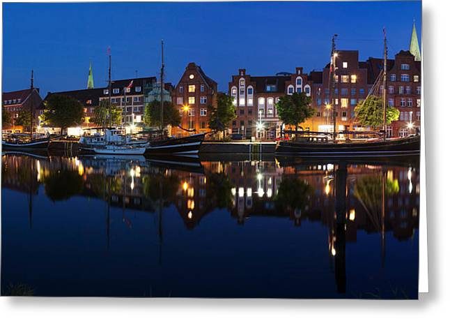 St Marys Greeting Cards - Holstenhafen On The River Untertrave Greeting Card by Panoramic Images