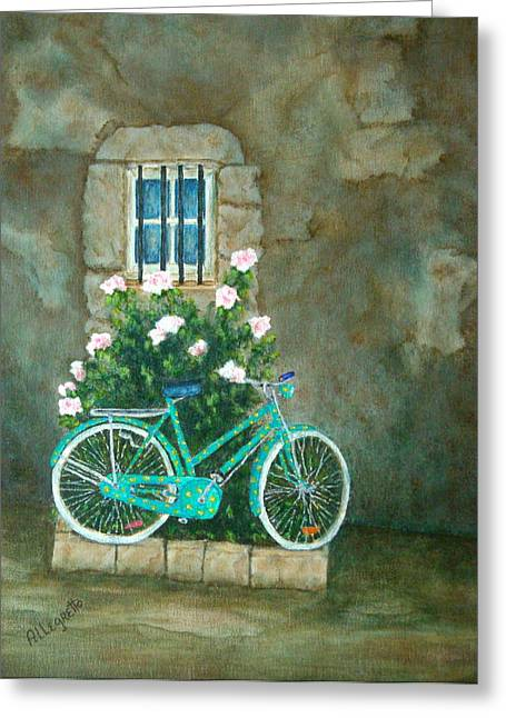 Pam Franz Greeting Cards - Home For Lunch In Rome Greeting Card by Pamela Allegretto