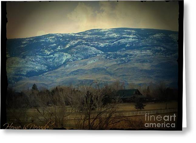 Matting Digital Greeting Cards - Home Is Nevada Greeting Card by Bobbee Rickard
