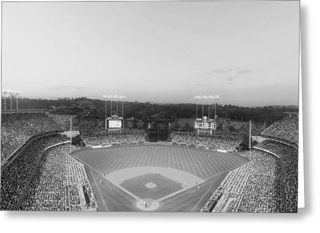 Dodger Stadium Greeting Cards - Home of the Dodgers Greeting Card by Mountain Dreams