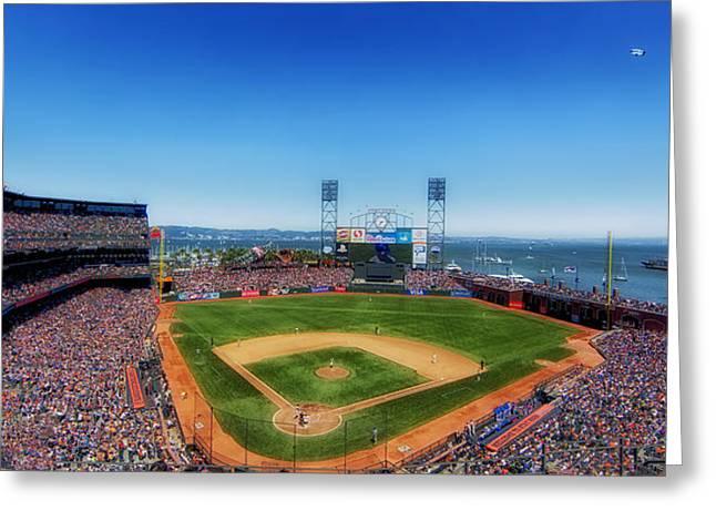 San Francisco Giants Ball Park Greeting Cards - Home of the San Francisco Giants Greeting Card by Mountain Dreams