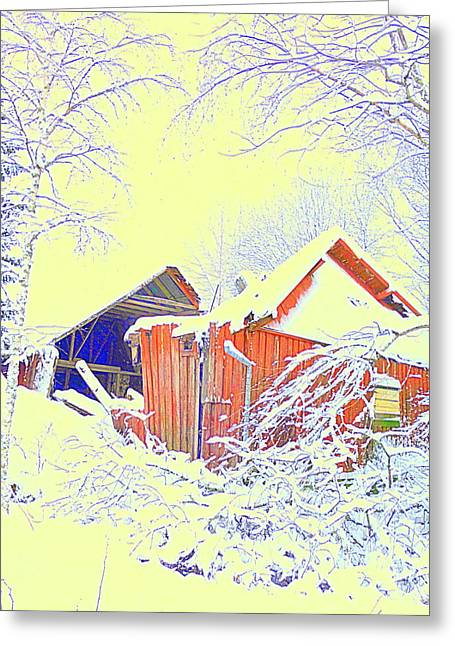 Winter Promise Greeting Cards - Home Sweet Home Greeting Card by Hilde Widerberg
