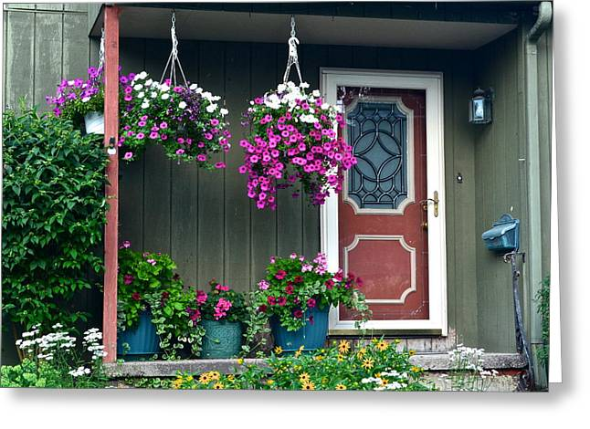 Entryway Greeting Cards - Home Sweet Home Greeting Card by Frozen in Time Fine Art Photography
