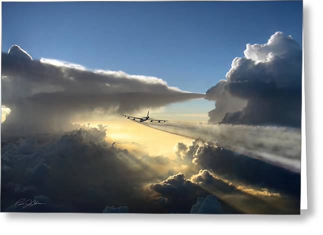 B-52 Greeting Cards - Homeward Bound Greeting Card by Peter Chilelli