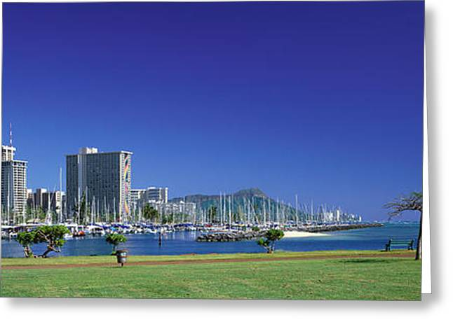 Ala Moana Greeting Cards - Honolulu Hawaii Greeting Card by Panoramic Images