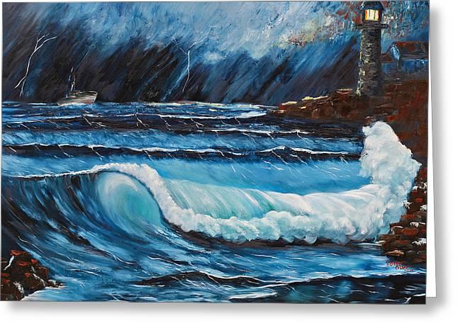 Storm Prints Paintings Greeting Cards - Hope  Greeting Card by Patricia Olson