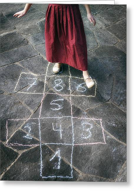 Spring Floors Greeting Cards - Hopscotch Greeting Card by Joana Kruse
