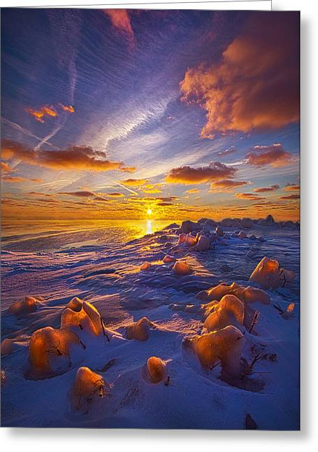 Freeze Greeting Cards - Horizons Greeting Card by Phil Koch