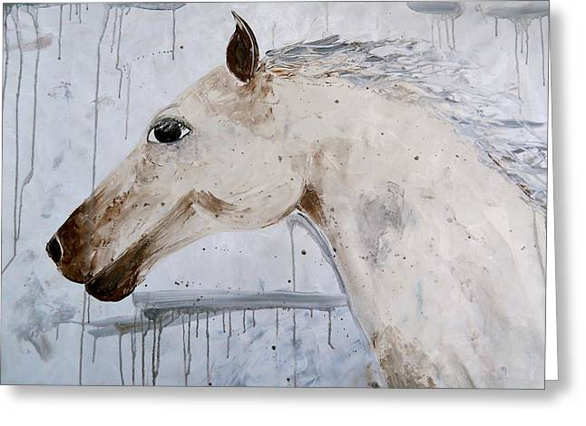 Laura Carter Greeting Cards - Horse Painting Fine Art Print Greeting Card by Laura  Carter