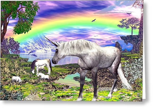 Greensward Greeting Cards - Horse Greeting Card by Raphael  Sanzio
