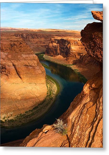 Glen Canyon National Recreation Area Greeting Cards - Horseshoe Bend  Greeting Card by James Marvin Phelps