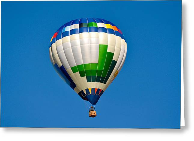 Morning Race Greeting Cards - Hot Air Balloon Greeting Card by Brandon Bourdages