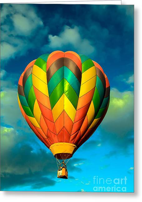 Haybales Greeting Cards - Hot Air Balloon Greeting Card by Robert Bales