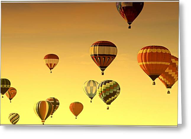 Helium Greeting Cards - Hot Air Balloons Greeting Card by Geraldine Scull