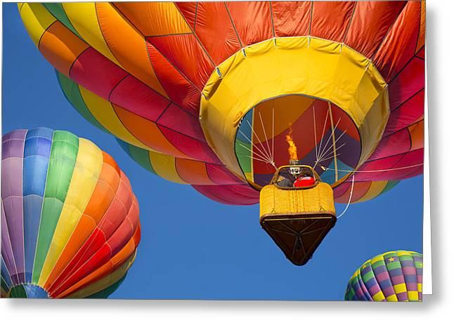 Three Hot Air Balloons Greeting Cards - Hot Air Balloons Greeting Card by Robert Jensen