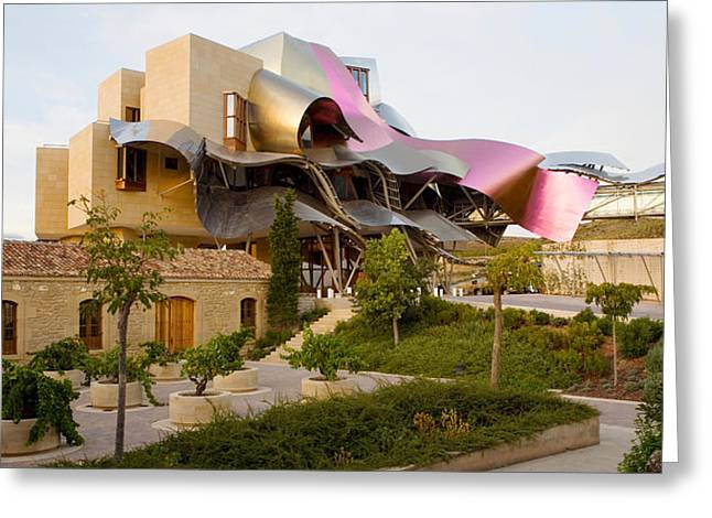 Winery Photography Greeting Cards - Hotel Marques De Riscal, Elciego, La Greeting Card by Panoramic Images