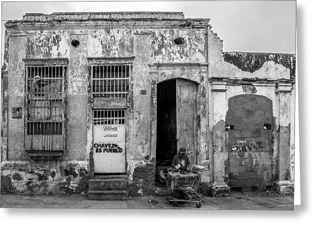 Graffiti Steps Greeting Cards - House in Maracaibo Venezuela Greeting Card by Mountain Dreams