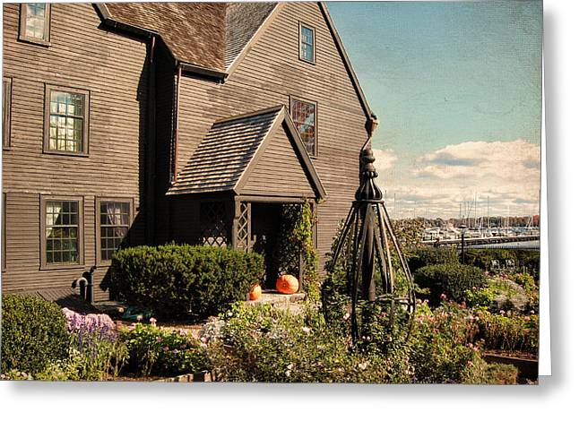 Historic Sites Greeting Cards - House Of The Seven Gables Greeting Card by Lourry Legarde