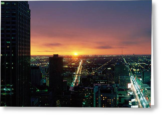 Urban Buildings Greeting Cards - Houston, Texas, Usa Greeting Card by Panoramic Images