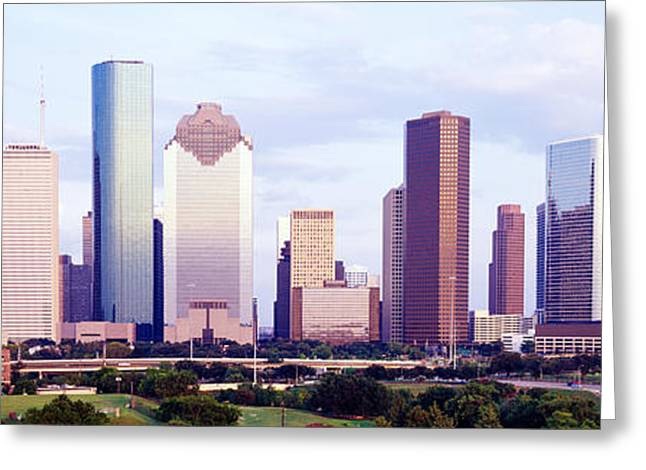 Corporate Business Greeting Cards - Houston Tx Greeting Card by Panoramic Images
