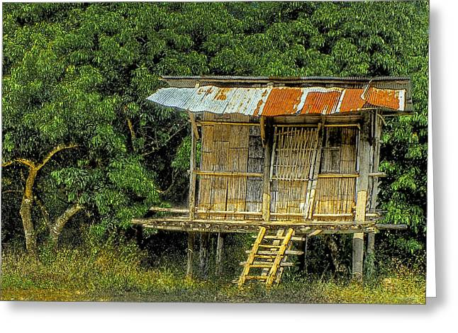 Tin Roof Greeting Cards - Humble Abode Greeting Card by Douglas J Fisher