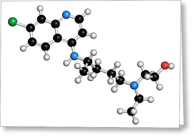 Hydroxychloroquine Malaria Drug Molecule Greeting Card by Molekuul
