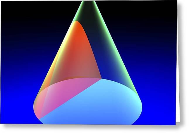 Geometric Artwork Greeting Cards - Hyperbola, Artwork Greeting Card by Russell Kightley