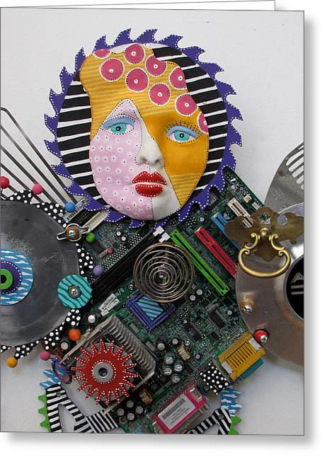 Mother Sculptures Greeting Cards - I Am A Warrior Greeting Card by Keri Joy Colestock
