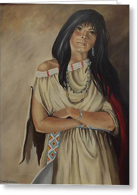 Jewelry Posters Greeting Cards - I Am Woman  Greeting Card by Wanda Dansereau