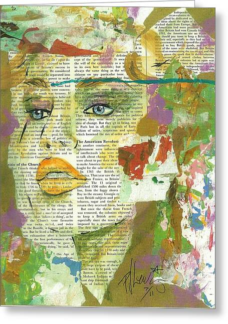 Pretty Face Greeting Cards - I have news Greeting Card by P J Lewis