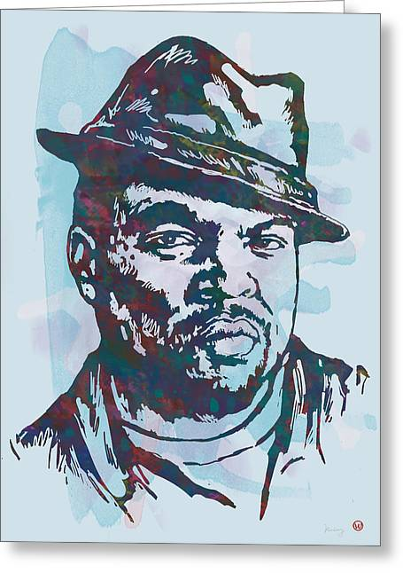 December Mixed Media Greeting Cards - Ice Cube pop art etching poster Greeting Card by Kim Wang