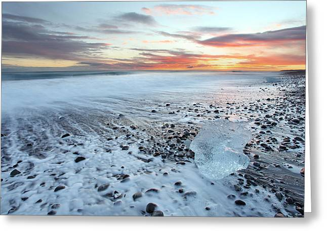 North Sea Greeting Cards - Iceland sunset Greeting Card by Ollie Taylor