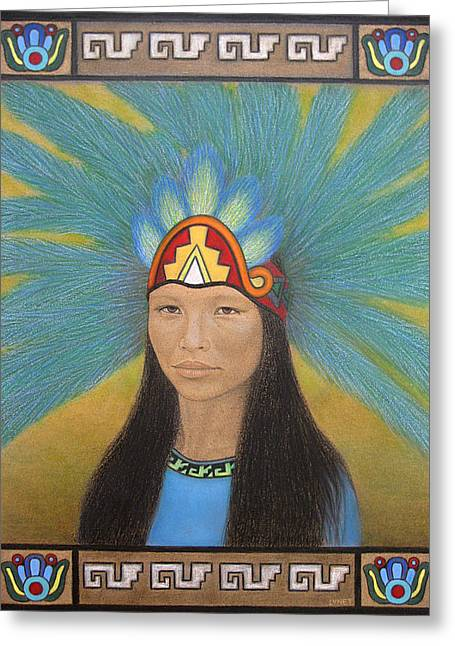 History Pastels Greeting Cards - Ichpochtli Greeting Card by Lynet McDonald