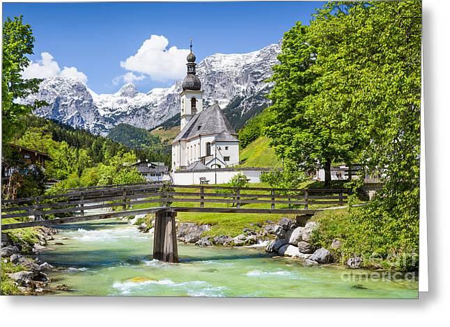 St Sebastian Greeting Cards - Idyllic Bavaria Greeting Card by JR Photography