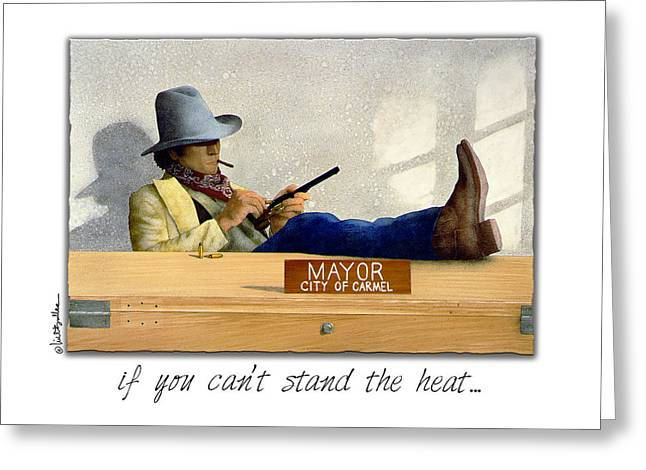 Law Enforcement Paintings Greeting Cards - If You Cant Stand The Heat... Greeting Card by Will Bullas
