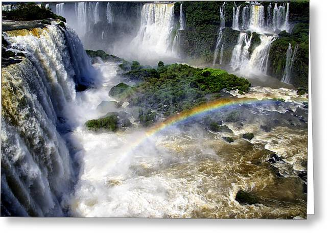 Berghoff Greeting Cards - Iguazu Falls - South America Greeting Card by Jon Berghoff