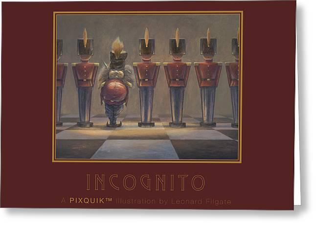 Leonard Filgate Greeting Cards - Incognito Greeting Card by Leonard Filgate