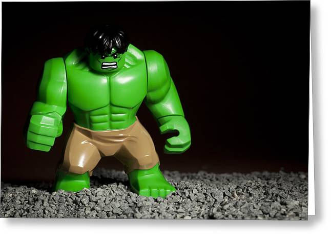 Lego Greeting Cards - Incredible Hulk Greeting Card by Samuel Whitton