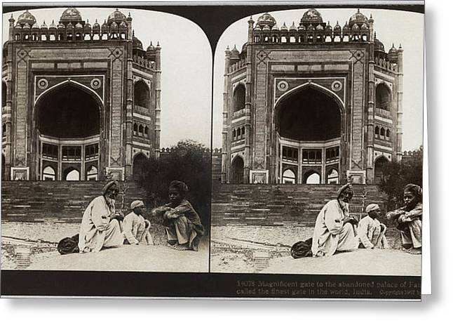 India Fatehpur Sikri, C1907 Greeting Card by Granger
