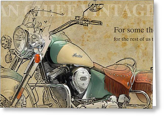 Indian Chief Vintage 2012 Greeting Card by Pablo Franchi